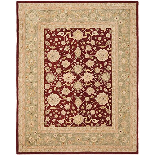 Moss Green Traditional Rug - 3