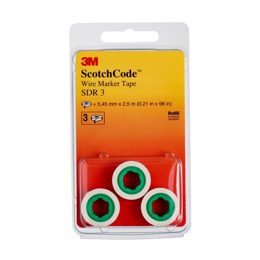 3 M Scotch Có digo SDR Cable de 3 marcadores rollos de recambio, esfera 3 (3 unidades) esfera 3(3unidades) 3M 7000058786