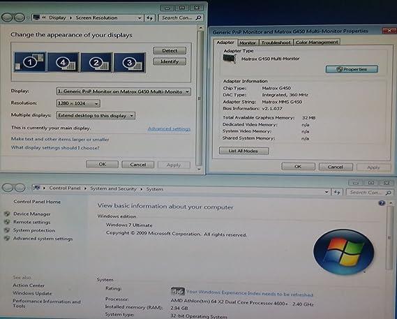 Amazon com: Matrox 7105-0101 G450 Multi-Monitor 128Mb Pci