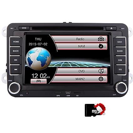EinCar DVD Player CD GPS Navigation Bluetooth Touch Screen Radio 2 Din Stereo for VW / Volkswagen / Passat / GOLF / Skoda / Seat 7 Inch Head Unit Free ...
