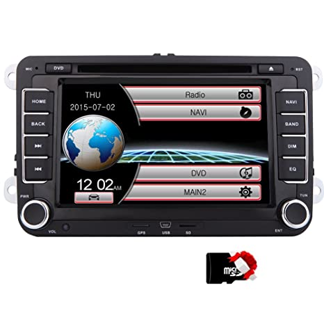 EinCar DVD Player CD GPS Navigation Bluetooth Touch Screen Radio 2 Din Stereo for VW /
