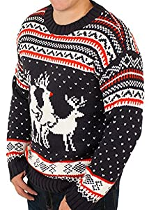 Ugly Christmas Sweater - Reindeer Threesome Sweater By Festified