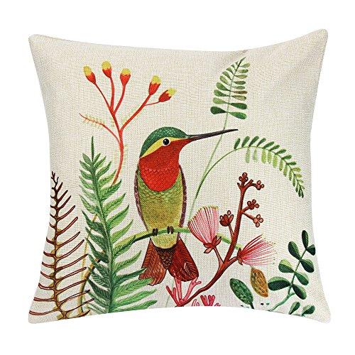 Littay Pillowcase 18inch x 18inch,Pillow Case Sofa Waist Throw Cushion Cover Home Decor ()