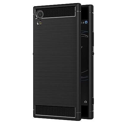 Funda Sony Xperia XA1, AICEK Negro Silicona Fundas para Sony XA1 Carcasa Xperia XA1 Fibra de Carbono Funda Case (5,0 Pulgadas)