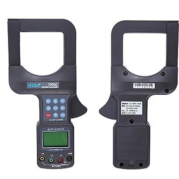 Easy Go Shopping Amperímetro Medidor de Abrazadera de Fuga de Gran Calibre Detector de Voltaje Medidor de Abrazadera de Corriente ETCR 7000A: Amazon.es: ...