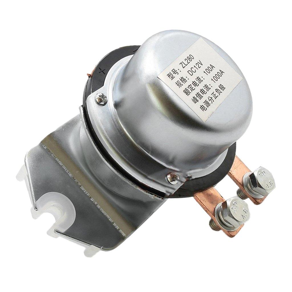 Baoblaze Rel/é de Solenoide Accesorio Retransmisi/ón 12V 100Amp para Automoviles
