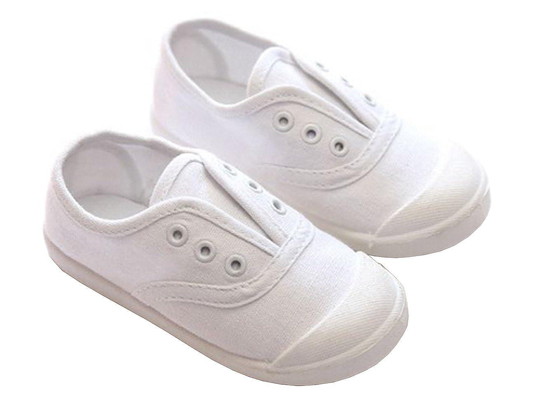 PPXID Mixte enfant Chaussure Bateau Toile Slip-On Mocassin