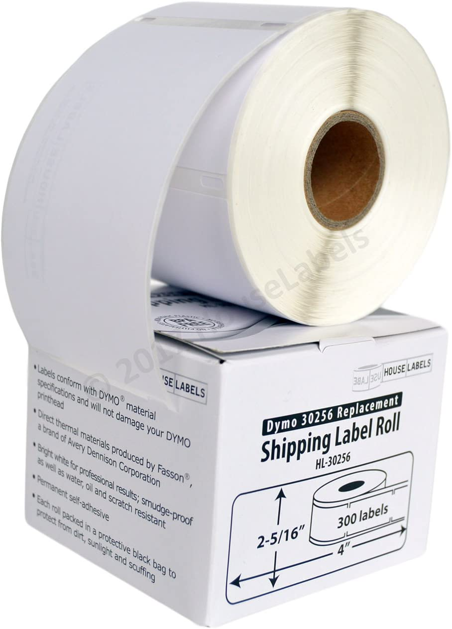 """1 Roll of 300 Large Ship Labels 30256 For DYMO LabelWriter 400 450 2-5//16/"""" x 4/"""""""
