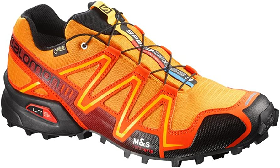 SALOMON Speed Cross 3 GTX Bottle Green/Sinople Green/Fluo Yellow Asphalt/ Black/Bright Red: Amazon.es: Deportes y aire libre