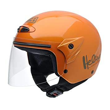 NZI 050215G193 Helix II Junior Casco de Moto, Metal, Talla L, Naranja