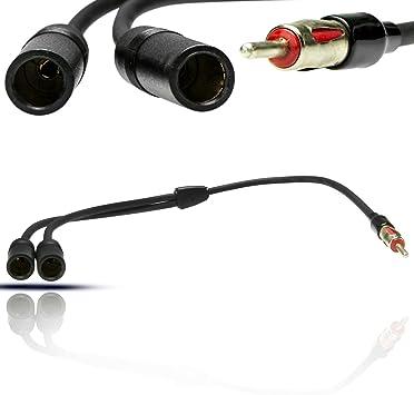 y adaptador de audio splitter cable de antena conector DIN ...