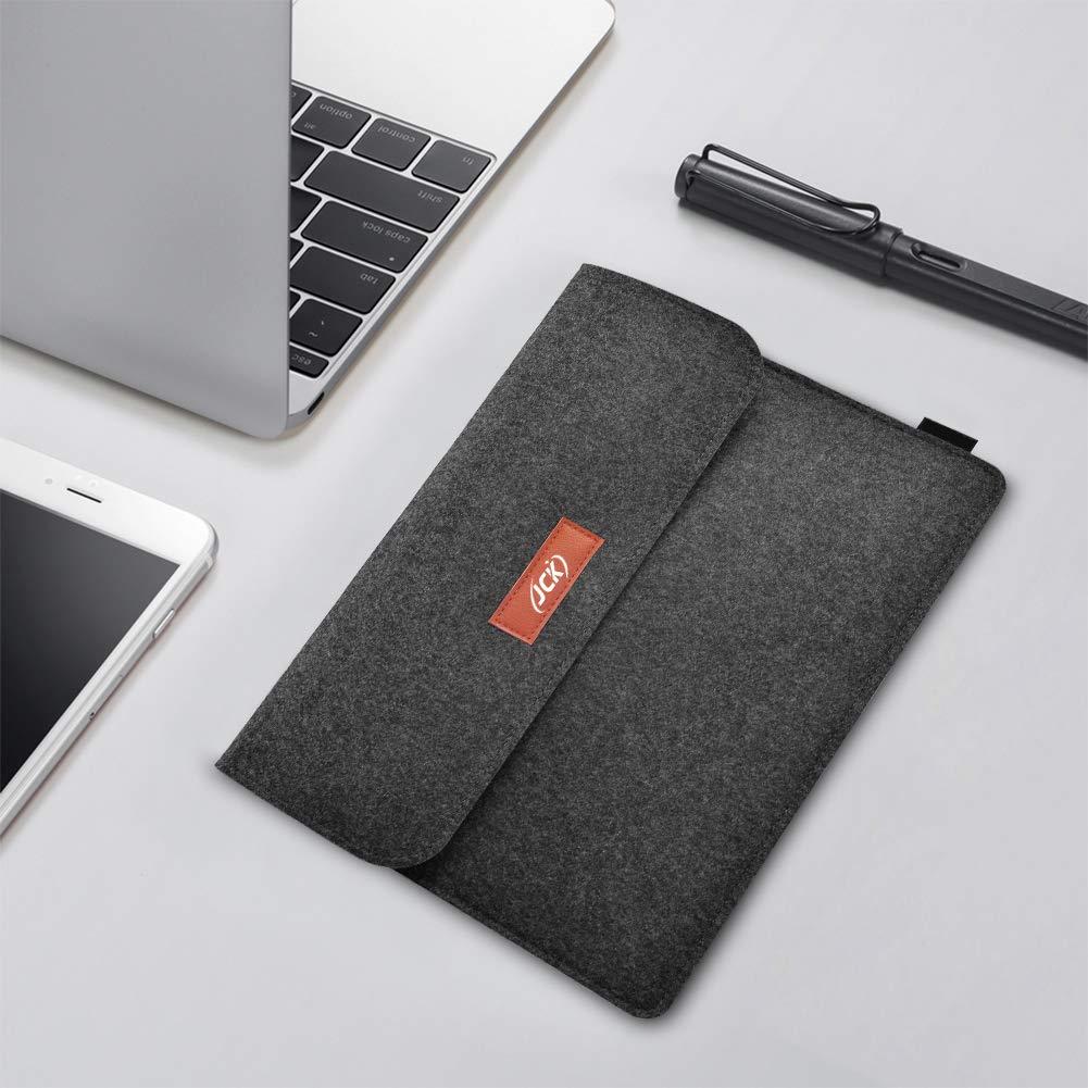 JCK Funda Port/átil Compatible con 13-13.3 Pulgadas MacBook Pro//Retina//MacBook Air Gris Oscuro iPad Pro 12.9 Funda de Fieltro para port/átil Bolsa Blanda con Peque/ño Caso Surface Pro X//7//6//5//4//3