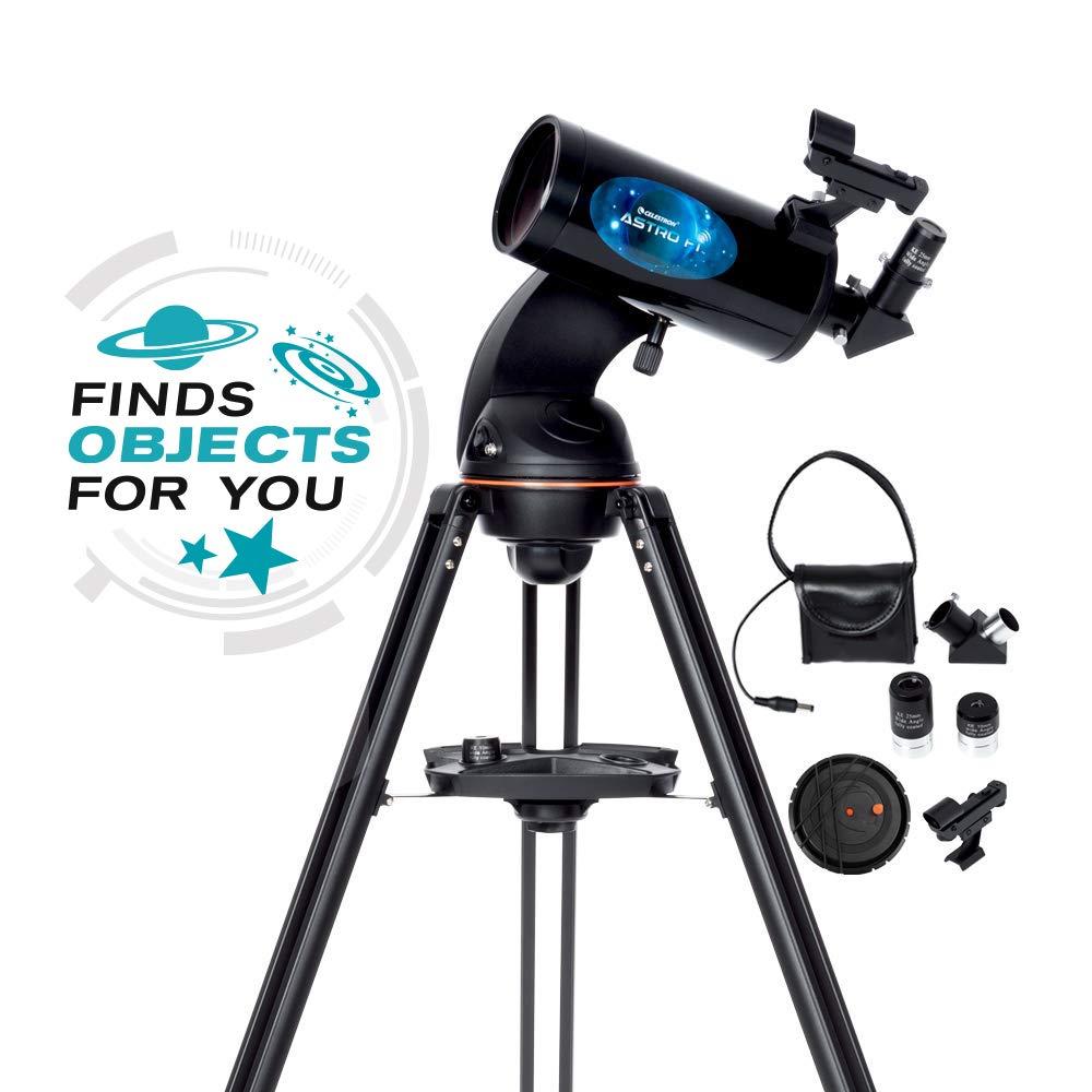 Celestron Astro Fi 102 Wi-Fi Maksutov Wireless Reflecting Telescope, Black (22202)
