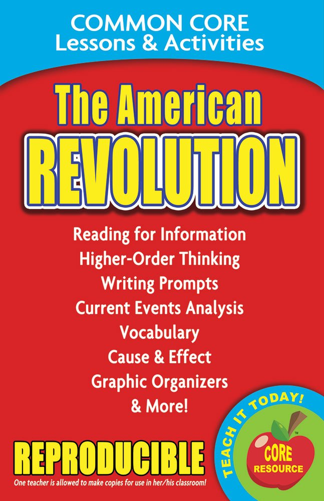 Download The American Revolution - Common Core Lessons and Activities pdf epub
