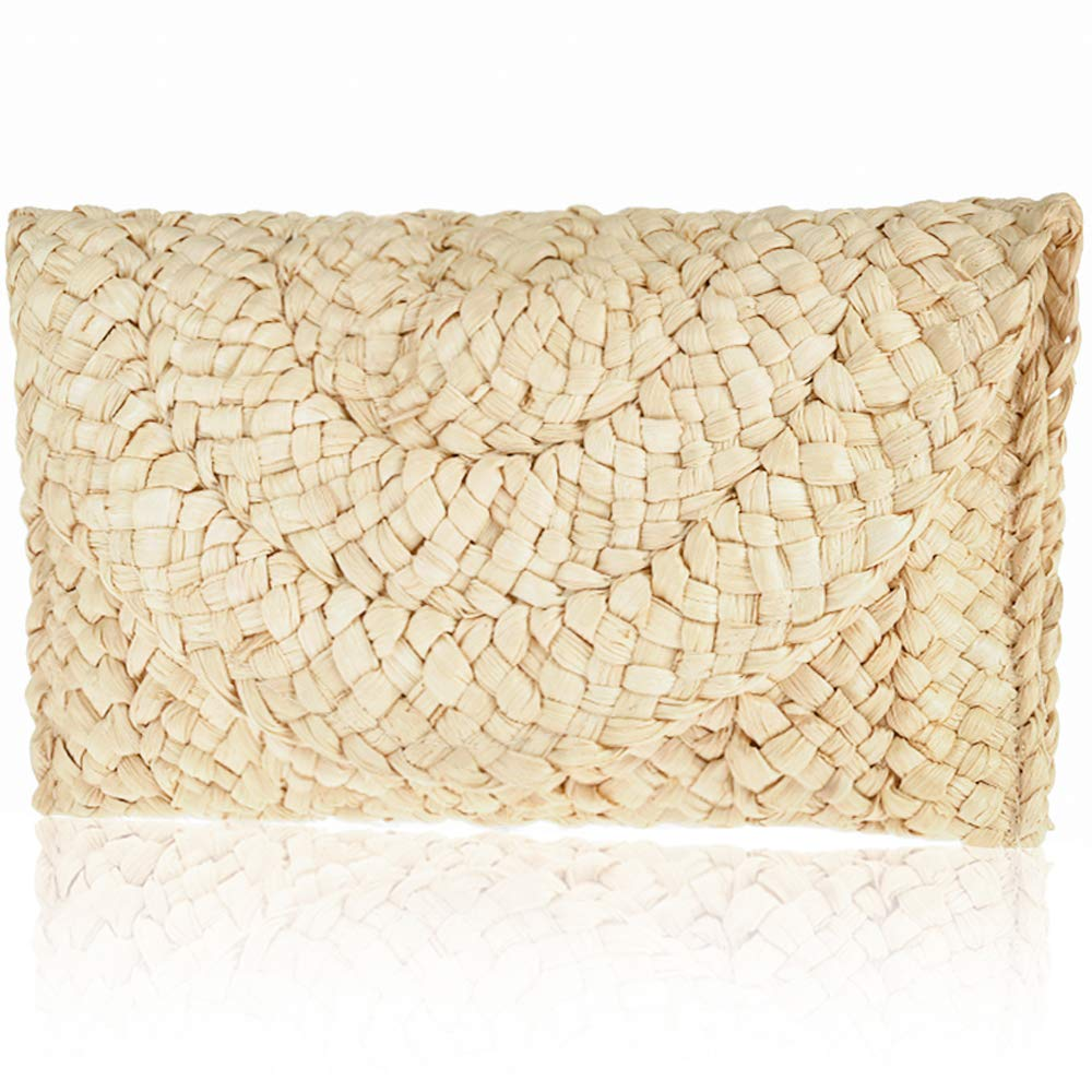 Straw Clutch Handbag Xmeng...