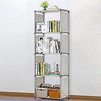 4-Shelf Bookcase Book Shelves Bookshelf Storage Bin Books Display Shelving Unit Organizer