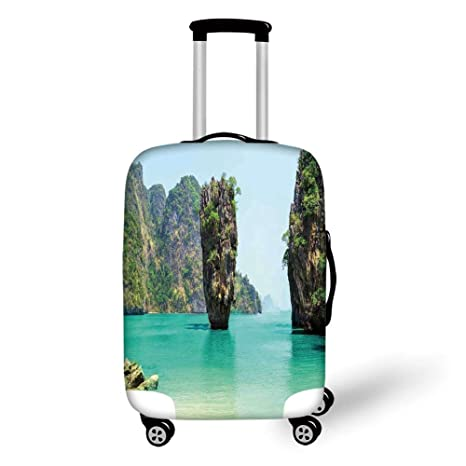 Amazon Com Travel Luggage Cover Suitcase Protector Ocean
