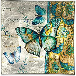 Angelstar 19171 Radiant Butterflies Square Plate, 8""