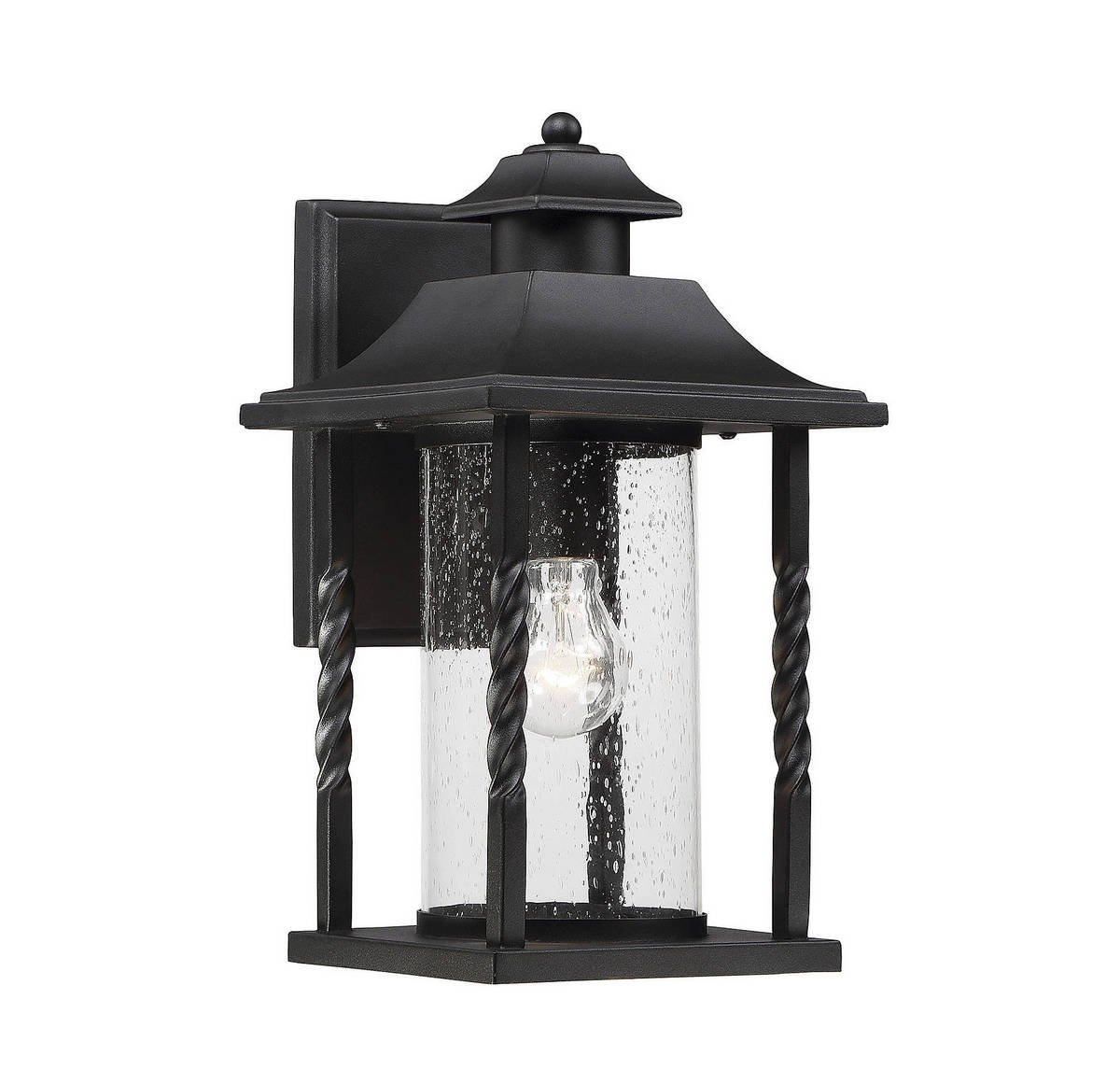 Savoy House 5-1231-BK Dorado 14'' Outdoor Wall Lantern in Textured Black