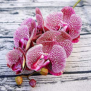 CoronationSun - Artificial Orchid - Artificial Orchid Flowers Fake Flor Flower for Home Wedding DIY Decoration 118