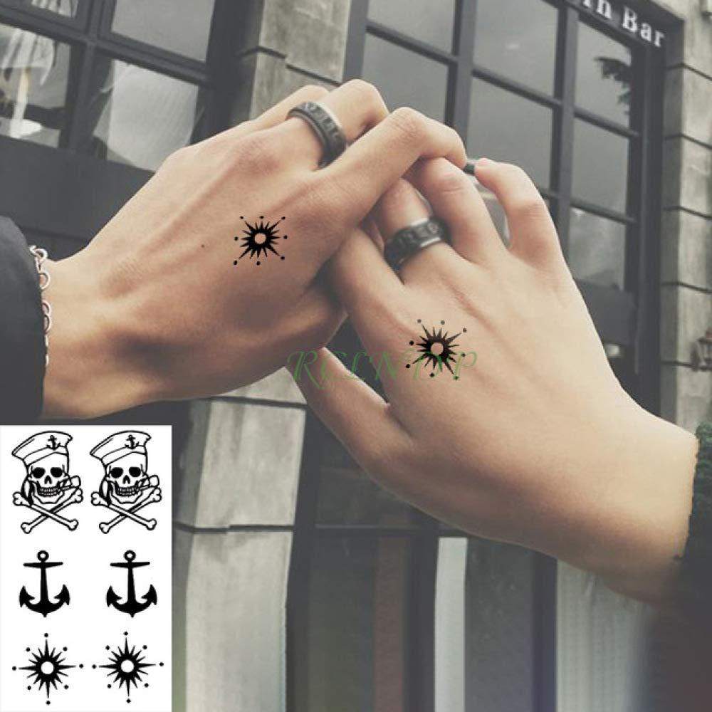 ljmljm 4pcs Impermeable Etiqueta engomada del Tatuaje de la ...