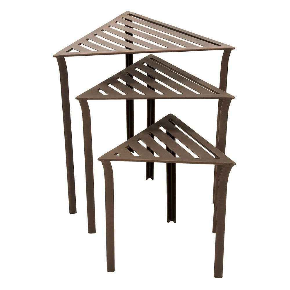 amazoncom triangular nesting tables set outdoor and patio furniture sets garden u0026 outdoor
