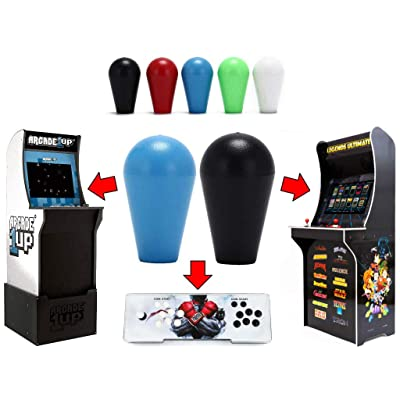 Alvatron Set of 2 Joystick Bat Tops for Arcade1up, AtGames Legends Ultimate Arcade, Pandora's Box, Street Fighter 2 Final Fight Marvel Super Heroes Mortal Kombat NBA JAM TMNT Burger Time (Blue/Black): Toys & Games