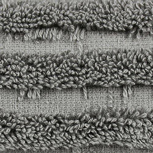 Luxury Hotel & Spa Bath Towel Turkish Cotton, Set of 4 (Gray) by Chakir Turkish Linens (Image #4)