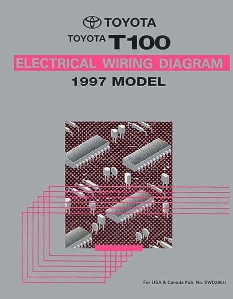 amazon com: bishko automotive literature 1997 toyota t100 wiring diagrams  schematics layout factory oem: automotive
