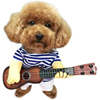Yu-Xiang Pet Guitar Costume Dog Sailor Costume Halloween Christmas Festive Party Funny Cat Clothes (M)