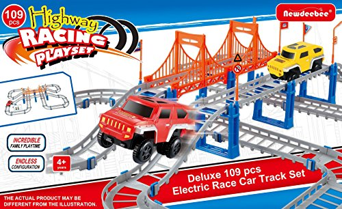 Newdeebee Highway Racing Playset (109 Pcs) Special Edition - construction toy set