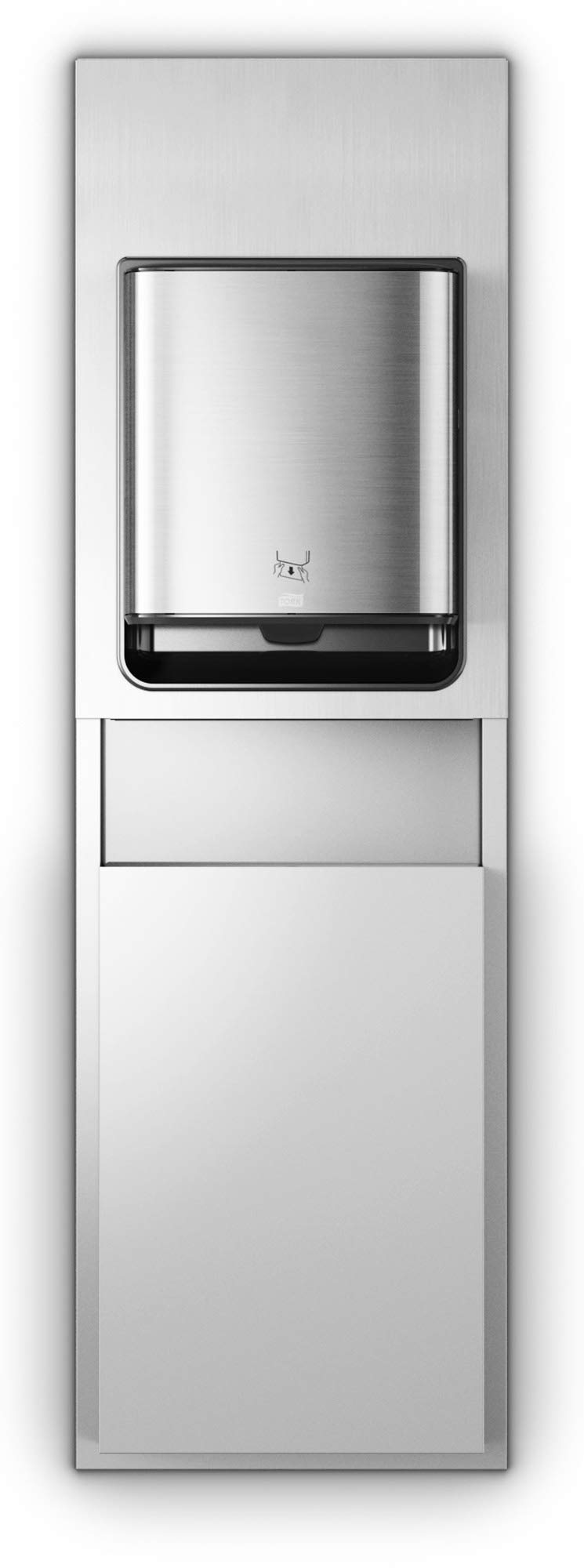 Tork 461022 Image Design Matic Paper Hand Towel Roll Dispenser, Recessed, 26.97'' Height x 17.64'' Width x 7.87'' Depth, Stainless Steel (Case of 1 Dispenser)