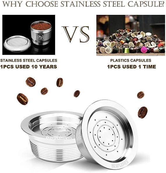 Godyluck C/ápsulas de caf/é Reutilizables de Acero Inoxidable C/ápsula de caf/é Reutilizable Filtro de Taza Compatible con LAVAZZA A Modo Mio Jolie LAVAZZA A Modo Mio ESPRIA