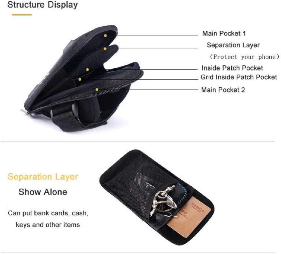 DFV mobile 2019 Funda Brazalete Reflectante Impermeable con 2 Compartimentos Deporte Correr Andar Ciclismo Gimnasio para ULEFONE Armor 3W - Negra