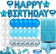 Korins Cumpleaños Decoracione, Happy Birthday cumpleaños, Pompones de Papel, Globos de Papel de Oro para Hombr