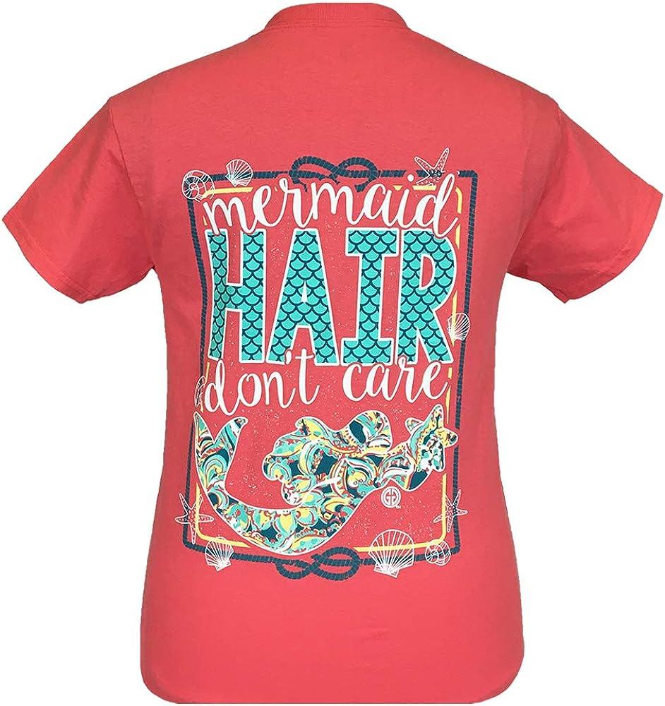 Girlie Girls Mermaid Hair Don't Care Short Sleeve T-Shirt