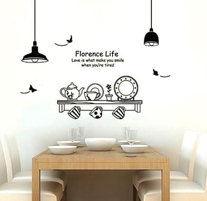 Adesivo per decorazione pareti 60x90 cm, MENSOLA CUCINA