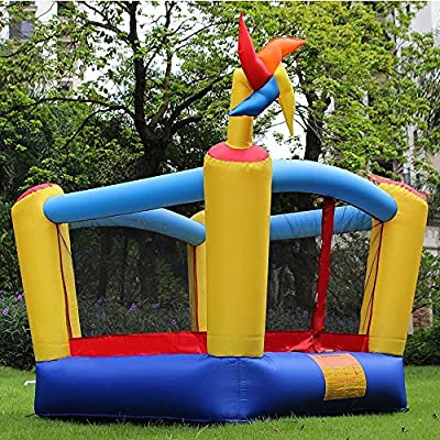 RETRO JUMP Inflatable Bounce House Bouncing Jump Moonwalk Playhouse and Slide with Blower (123 no Blower): Toys & Games