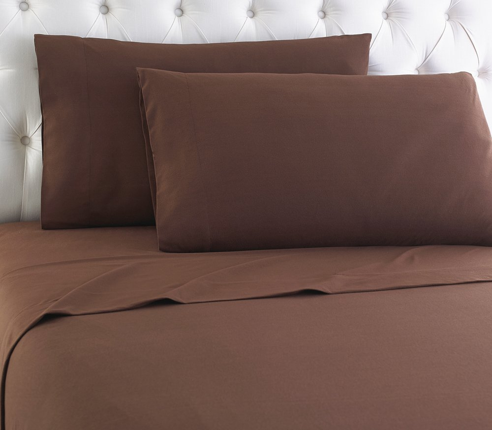 Shavel Micro Flannel Sheet Set, King, Chocolate by Shavel Home Products