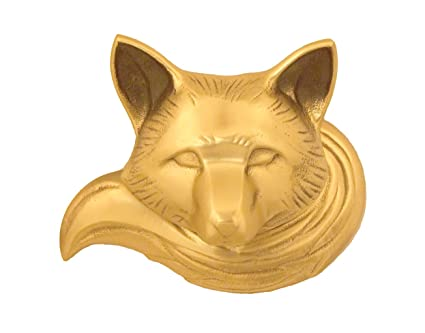 Charmant Fox Door Knocker   Brass (Premium Size)
