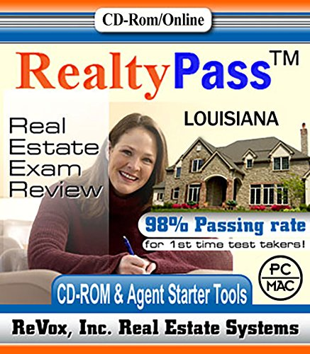 2018 Louisiana PSI Realty Pass Real Estate Exam Prep Study Guide Questions and Answers Interactive Software
