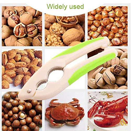 Multifunctional Nutcracker Pecan Walnut Clip Nut Cracker Bottle Opener,SUJING Walnut Cracker Plier Opener Tool (Green)