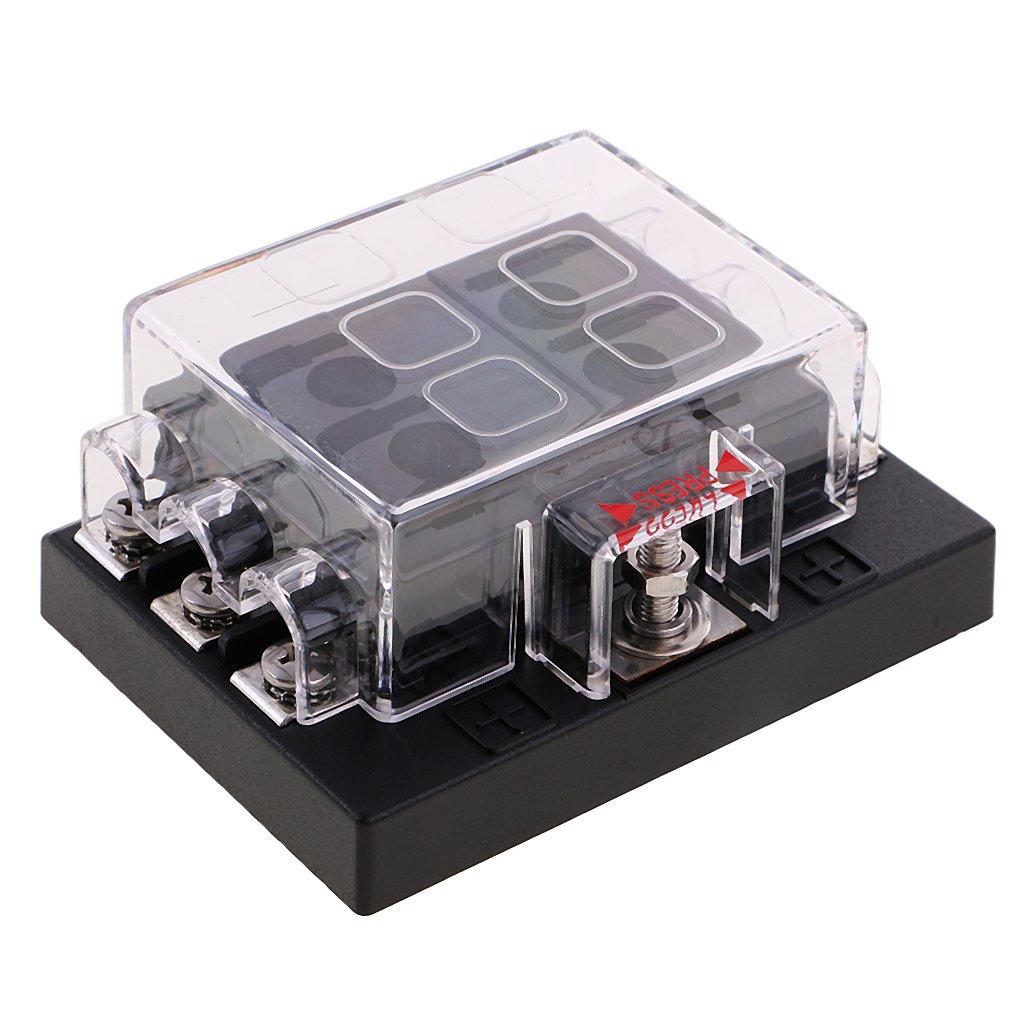 MagiDeal 8-Fach Sicherungskasten ATO ATC Fuse Box 32V 25A fü r Auto KFZ ( ohne Sicherungen )