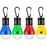 Mpow Camping Light Bulb 4 Packs 3 Light Modes Portable Hanging LED Lantern Tent Light Bulb 180 Lumens for Camping, Fishing, Hiking, Hunting, Backpacking, Emergency [Energy Class A+]