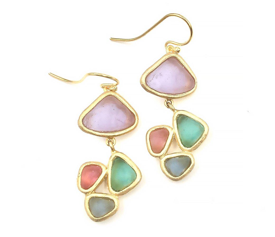 Michael Vincent Michaud Glass Pebbles Earrings #1056M1