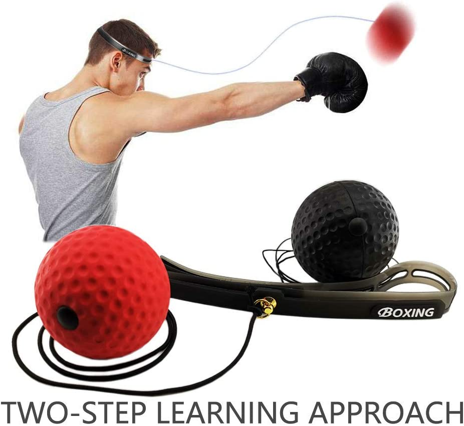 2*Boxing Training Fight Ball Reflex Speed Reaction Punch Combat Exercise Muscle