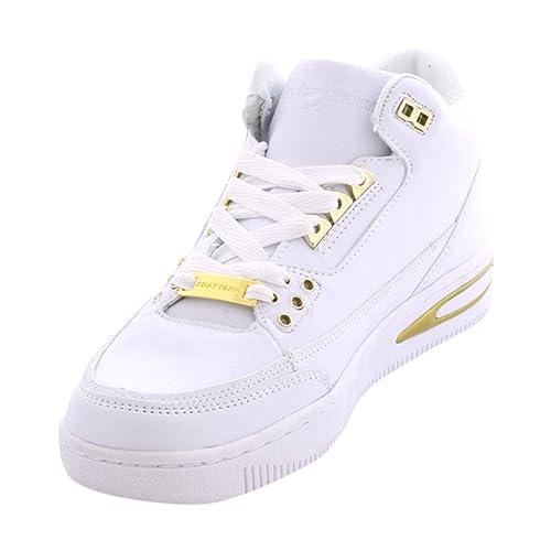 7ab06888ca5 Amazon.com | Phat Farm Men's Mercer Sneakers - White/Gold - 12 | Shoes