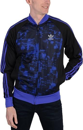adidas Originals Superstar CIUDAD Scape morado chaqueta de chándal ...