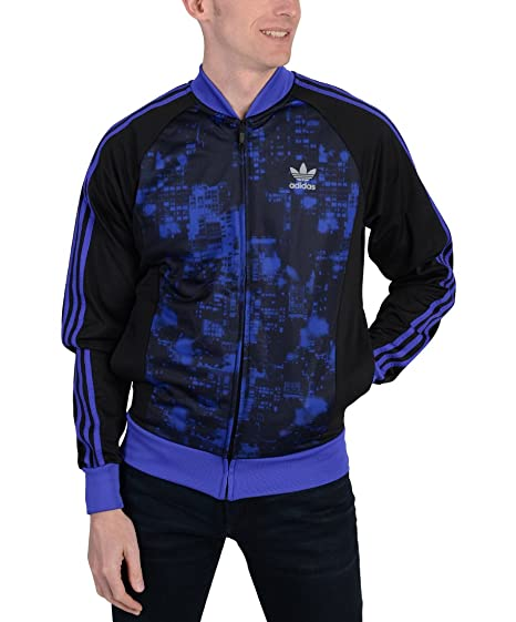 new product b366c 57919 adidas Mens Originals Superstar City Scape Track Jacket Purple at Amazon  Men s Clothing store
