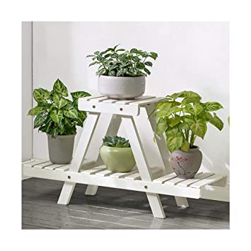 2 niveaux fleur étagères plante étagère en bois debout fleur ...